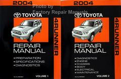 2004 Toyota 4Runner Repair Manual Volume 1, 2