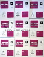 2018 Silverado, Sierra, Sierra Denali Service Manual Volume 1, 2, 3, 4, 5, 6, 7, 8, 9