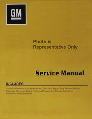 Chevrolet Express GMC Savana GM Service Manual 2017  Volume 1, 2, 3, 4