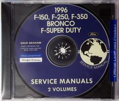 1996 F-150 F-250 F-350 Bronco F-Super Duty Service Manual Volume 1 and 2 on CD