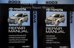 2003 Toyota Rav4 Repair Manual Volume 1, 2