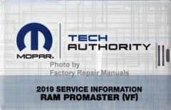 2019 Ram Promaster Mopar Service Information USB
