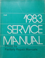 1983 Dodge Colt Plymouth Colt Service Manual