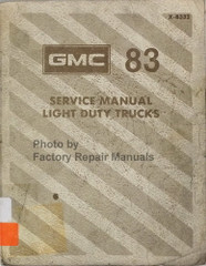 1983 GMC Light Duty Truck Factory Service Manual