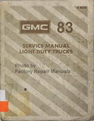 1983 GMC Light Duty Truck Factory Service Manual