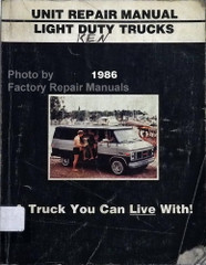 1986 GMC Light Duty Truck Unit Repair Manual