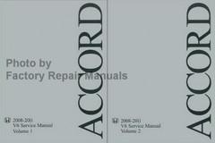 2008-2011 Honda Accord V6 Service Manual Volume 1, 2