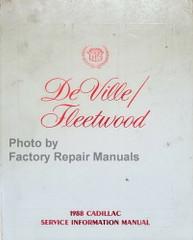 1988 Cadillac Deville/Fleetwood Service Information Manual