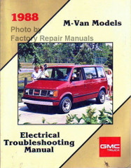 1988 GMC Safari Van Electrical Troubleshooting Manual