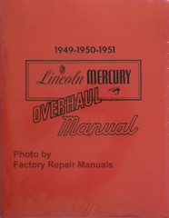 1949 1950 1951 Lincoln Mercury Overhaul Manual