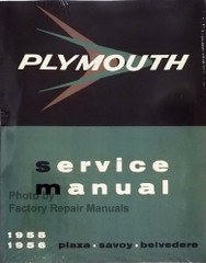 Plymouth Service Manual 1955 1956 Plaza Savoy Belvedere