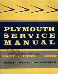 Plymouth Service Manual 1957 1958 1959 Plaza Savoy Belvedere Spine View