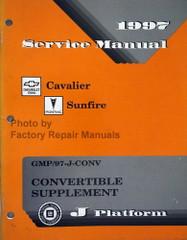 1997 Service Manual Cavalier Sunfire Convertible Supplement