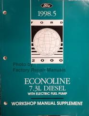1998.5 Ford Econoline 7.3L Diesel Shop Repair Manual Supplement