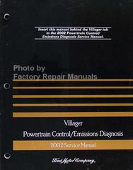 1998 Mercury Villager Powertrain Control / Emissions Diagnosis Service Manual