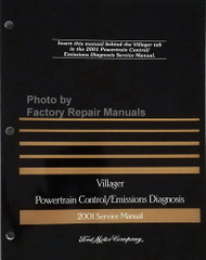 2001 Mercury Villager Powertrain Control / Emissions Diagnosis Service Manual