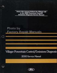 2000 Mercury Villager Powertrain Control / Emissions Diagnosis Service Manual