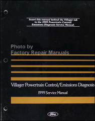 1999 Mercury Villager Powertrain Control / Emissions Diagnosis Service Manual