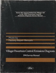 1994 Mercury Villager Powertrain Control / Emissions Diagnosis Service Manual