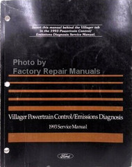 1993 Mercury Villager Powertrain Control / Emissions Diagnosis Service Manual