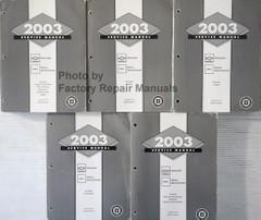 2003 Chevrolet GMC Silverado Sierra Sierra Denali Service Manual Volume 1, 2, 3, 4, 5