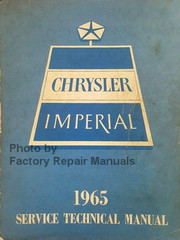 1965 Chrysler and Imperial Service Manual