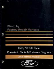 2005 Ford F650/750 6.0L Diesel Powertrain Control/Emissions Diagnosis Service Manual