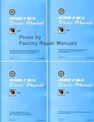 2008 Saturn View Service Manual Volume 1, 2, 3, 4