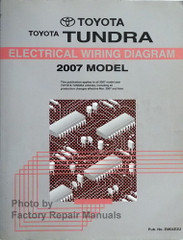 2007 Toyota Tundra Electrical Wiring Diagrams