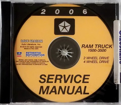 2006 Dodge  Ram Truck 1500 2500 3500 Service Manual