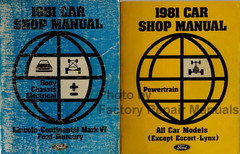1981 Ford Lincoln Mercury Large Car Factory Shop Service Manual Set Original
