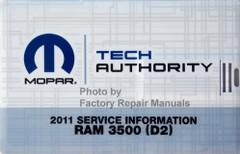 2011 Ram 3500 Mopar Service Information