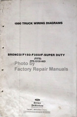 1990 Ford F150 F250 F350 Truck Bronco Wiring Diagrams