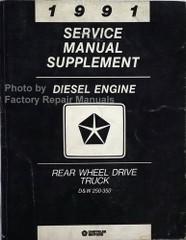 1991 Dodge Ram Truck Diesel Engine Service Manual Supplement