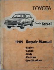 1982 Toyota Corolla Tercel Repair Manual