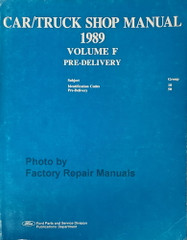 1989 Ford Lincoln Mercury Car and Truck Maintenance & Lubrication Manual