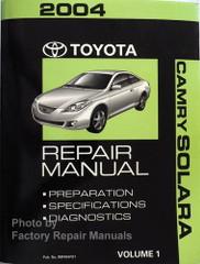 2004 Toyota Camry Solara Repair Manual Volume 1