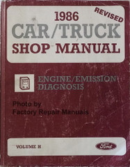 1986 Ford Lincoln Mercury Car & Truck Engine/Emissions Diagnosis Service Manual