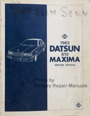 1983 Datsun 810 Nissan Maxima Service Manual