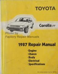 1987 Toyota Corolla FF Repair Manual