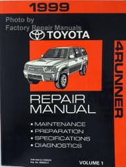 1999 Toyota 4Runner Repair Manual Volume 1