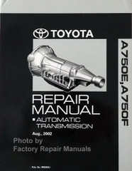 Toyota Lexus A750E A750F Auto Transmission Repair Overhaul Manual
