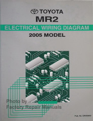 2005 Toyota MR2 Spyder Electrical Wiring Diagrams