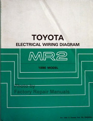 1986 Toyota MR2 Electrical Wiring Diagrams