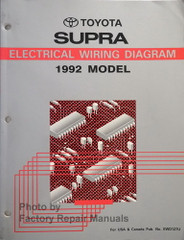 1992 Toyota Supra Electrical Wiring Diagrams