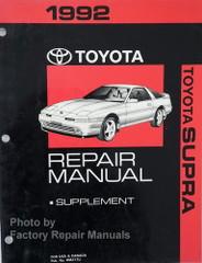1992 Toyota Supra Repair Manual Supplement