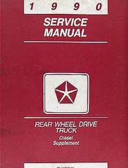 1990 Dodge Truck Cummins Diesel Engine Supplement