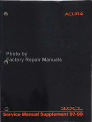 1997-1999 Acura 3.0CL Service Manual Supplement