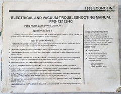 1993 Ford Econoline Electrical and Vacuum Troubleshooting Manual