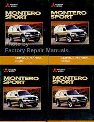 Mitsubishi Motors Montero Sport Service Manual Volume 1, 2, 3, 4
